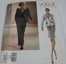 Vogue Couture Sewing Pattern 2631 Career Wear Suit Skirt Size 6-10 - $9.74