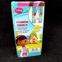 Disney Doc McStuffins Window 2 Panels and Tiebacks Curtains Drapes 42in ... - $25.99