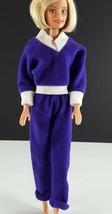 Barbie Clone Purple Velour Jogger 1970s Clothing - $9.89