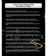 Games Energy Vampires Play - Printable Poetry Instant Download - $1.98