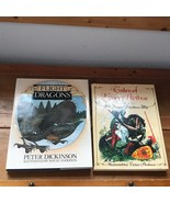 Lot of 2 TALES OF KING ARTHUR The Flight of Dragons Large Hardcover Book... - $13.99