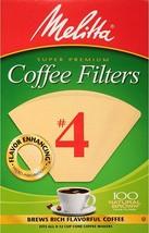 MELITTA SUPER PREMIUM CONE COFFEE FILTERS #4 NATURAL BROWN 100 Ct - $7.57