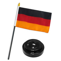 """German Germany Flag 4""""x6"""" Desk Set Table Stick Black Base - $18.00"""