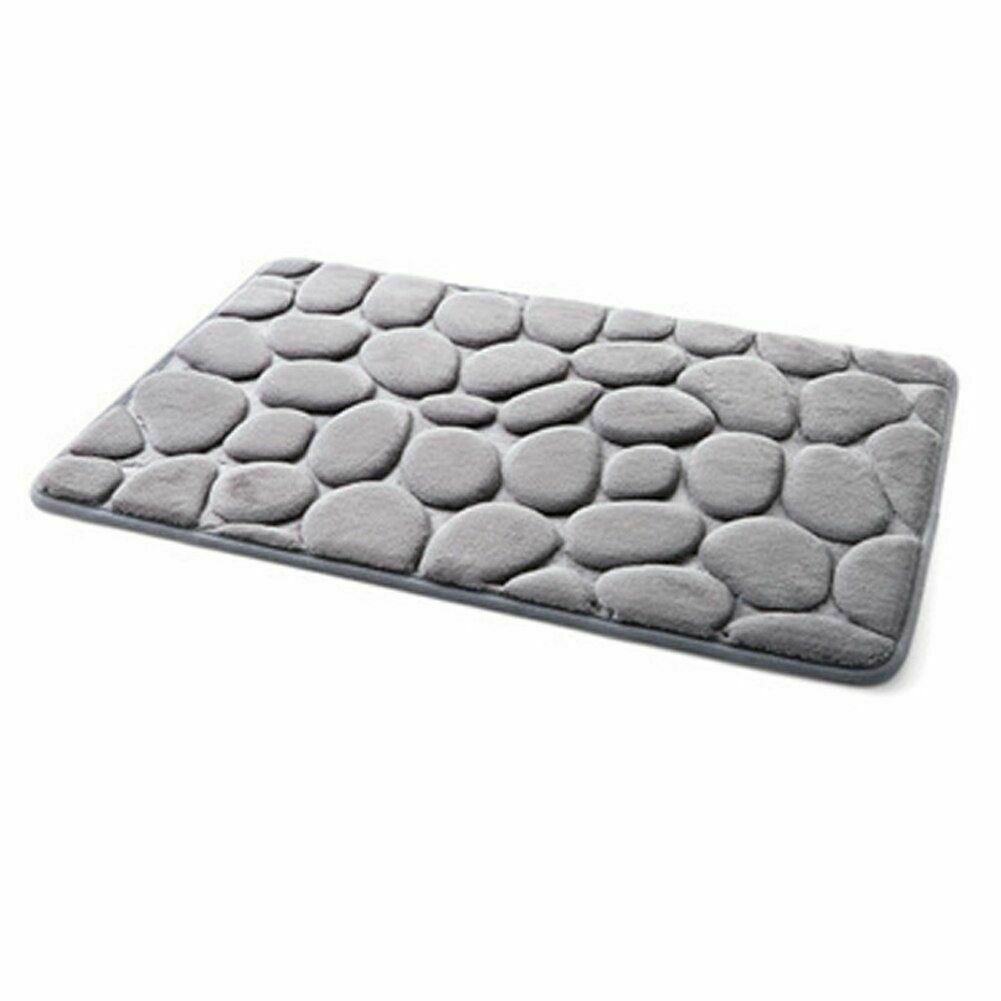 Pebble Flannel Non Slip Rug Foam Pad Mat Floor 40*60cm Carpet Home Garden Decor image 3
