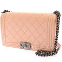 CHANEL Boy Chanel Large Lambskin Light Pink A92193 Chain Shoulder Bag - $3,038.45