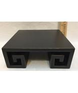 """Riser Platform Display Distressed Black Meandering Meander Design 6"""" Cen... - $12.22"""
