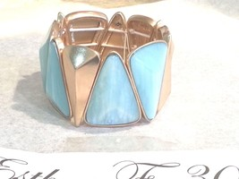 Kenneth Cole New York Gold-Tone Geometric Mixed Bead Stretch Bracelet NWT - $37.20
