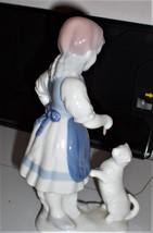 "Vintage Gerold Porcelain ""Girl Feeds Kitty"" Figurine 7983 W. Germany 194... - $34.65"