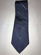 VTG Guy LaRoche Cravattes Striped Blue Dots Classic Men's Neck Tie - $10.88