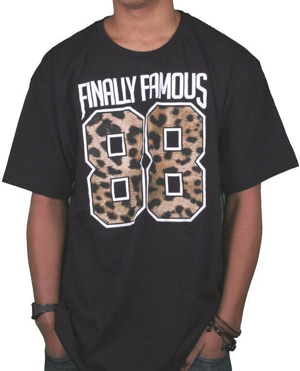 Finally Famous Mens Black 88 Big Sean Detroit City T-Shirt