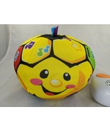 Fisher Price Laugh Learn Soccer Ball Plush 2010 Stuffed Animal Toy - $8.95