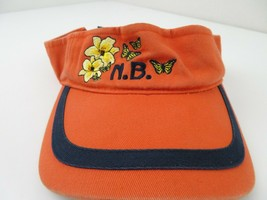 N.B. Butterflies Flowers Adjustable Adult Visor Cap Hat - $12.86