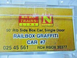 Micro-Trains # 02545561 Railbox Graffiti 50' Rib Side Boxcar Single Door N-Scale image 8