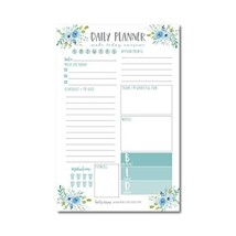Teal Undated Daily Task Planner To do List Pad, Mom School Family Life W... - $12.48