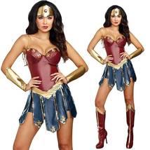 Wonder Woman Superhero Cosplay Deluxe Adult Costume image 2