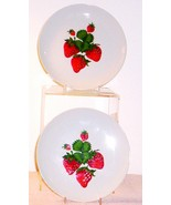 MID CENTURY MODERN--GEORGES BRIARD STRAWBERRIES PLATES - $9.95