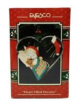 1993 Enesco Heart Filled Dreams Christmas Ornament - $35.00