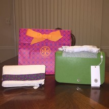 NWT Tory Burch Robinson Adjustable Shoulder Bag in Leaf Green - $270.79