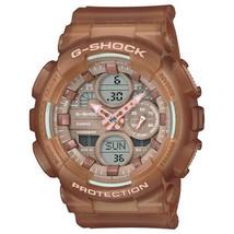 New Casio G-Shock Transparent Light Brown Women's Watch GMAS140NC-5A2 - $110.00