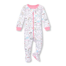 NWT The Childrens Place Monkey Girls Stretchie Footed Sleeper Pajamas 2 3 4 5 - $8.99