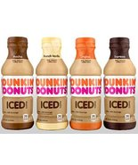 Dunkin' Donuts Bottled Ice Coffee 12 Pack (4 Flavor Variety Pack) - $57.41
