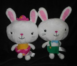 2 ANIMAL ADVENTURE 2018 BOY & GIRL PAIR BUNNY RABBIT STUFFED ANIMAL PLUS... - $32.73