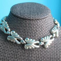 "Dramatic Choker Necklace  14"" Sand Cast Vintage Artisan Silver Studio De... - $163.35"