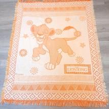 RARE Disney The Lion King Throw Blanket Tapestry Simba orange Tribal Vin... - $80.00