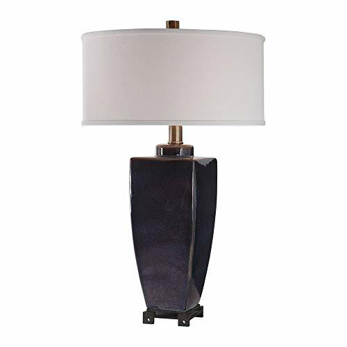 Contemporary Style Table Lamp in Midnight Blue
