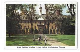 Williamsburg VA Wren Building William and Mary College Vintage Postcard - $2.99