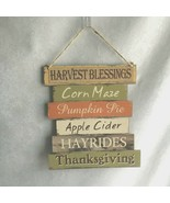 WELCOME FALL Harvest Blessings Wall Door Hanging Sign Thanksgiving Decor... - $7.88