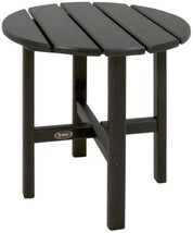 Trex Outdoor Patio Side Table 18 in. Weather-Resistant Plastic Charcoal ... - $103.95