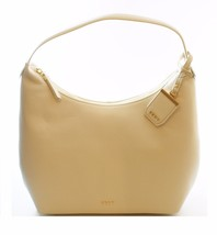 DKNY Donna Karan Sand Dollar Cream Leather Hobo Shoulder Bag Handbag - $228.38