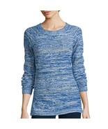 St. John's Bay Long-Sleeve Marled Scoopneck Sweater Size XL Bold Blue - $16.99
