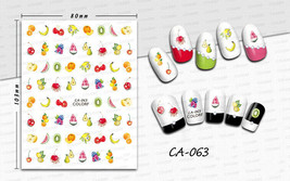 Nail Art 3D Decal Stickers Fresh Fruits Slices Citrus Cherry Watermelon ... - $3.09