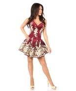 Elegant Wine Floral Short Formal Corset Back Dress - $299.00