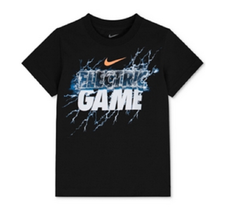 Nike Little Boys' Electric Game T-Shirt,  86A443, Black, Size 4 - $11.87