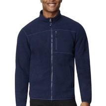 32 Degrees Heat Men's Size XL Sherpa Lined Full Zip Fleece Jacket (Navy ... - $21.55