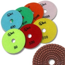 "KENT 7 pcs 4"" Diameter Premium Quality 4mm WET Polishing Flexible Diamond Pads - $64.65"