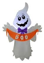BZB Goods 4 Foot Tall Halloween Inflatable White Ghost with Boo Banner L... - $48.67