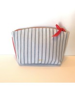 January 2019 Ipsy Cosmetic Makeup Clutch Glam  Bag Only Blue Stripe NEW - $7.99