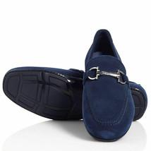 "Salvatore Ferragamo ~Size 9 Eee~ ""Nowell"" Blue Suede Men's Loafers Retail $560 - $480.00"