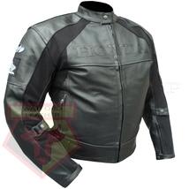 HONDA BLACK MOTORBIKE MOTORCYCLE BIKERS COWHIDE LEATHER ARMOURED JACKET - $194.99