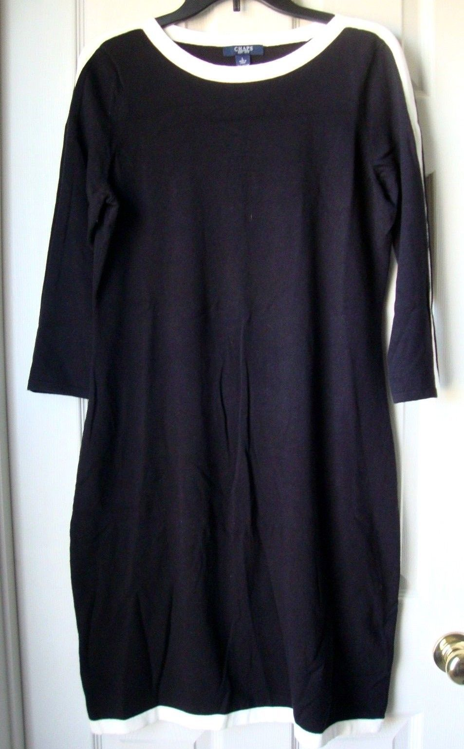 09474c1f8a8 Chaps Women Colorblock Sweater Dress Black and 50 similar items
