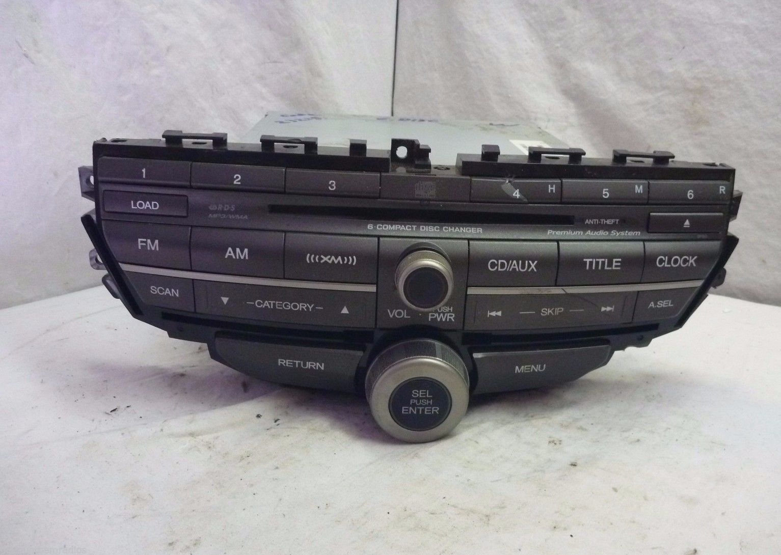 08-12 Honda Accord Premium 6 Disc Cd Player & Code 39100-TA0-L421 3PB0 S04387