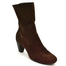 American Eagle Womans High Heel Boots Sz 10 Brown Suede Pull On  - $34.64