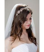 Asymmetrical Rose Gold Bridal Wedding Sweet 16 Quince Headband Hair Acce... - €79,62 EUR