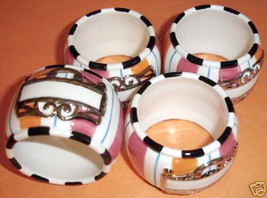 Department 56 Glitterville 4 Napkin Rings Placecard Holders - $16.90