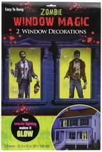 "Zombie Window Magic Decorations - Plastic (2 Pack) 33 1/2"" x 65"" - $10.39"