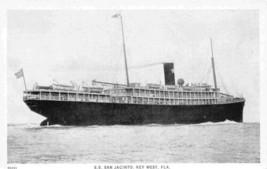 SS Jacinto Steamer Key West Florida 1930s postcard - $6.93